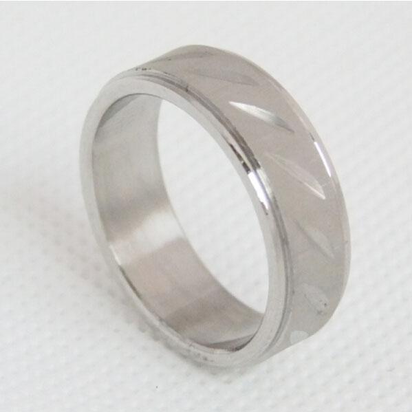 刀削批花戒指 简约不锈钢戒指 外贸饰品订制
