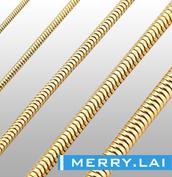 316L 不锈钢真空电镀金色蛇链