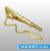 316L 不锈钢真空电镀金色领带夹