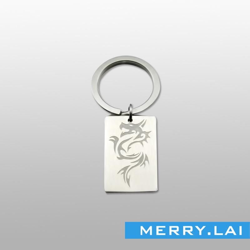 高档不锈钢刻雕纹案钥匙扣