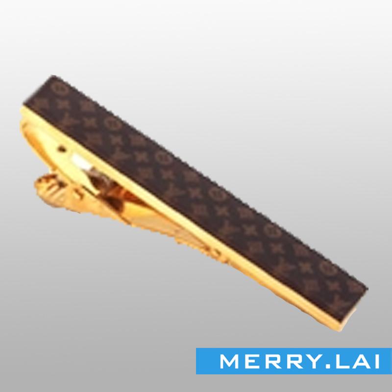 间电金色环保领带夹,高档精美领带夹