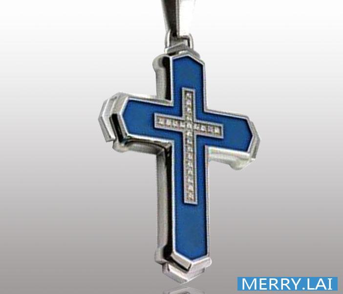 欧美流行男士不锈钢吊坠十字架吊坠