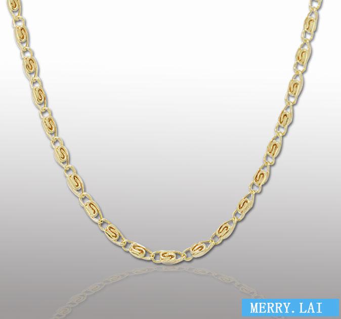 时尚锁骨女款不锈钢项链 电镀玖瑰金项链