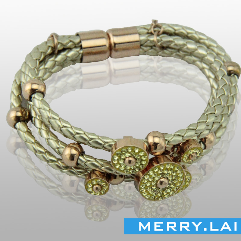 不锈钢女款手镯,时尚编织手链