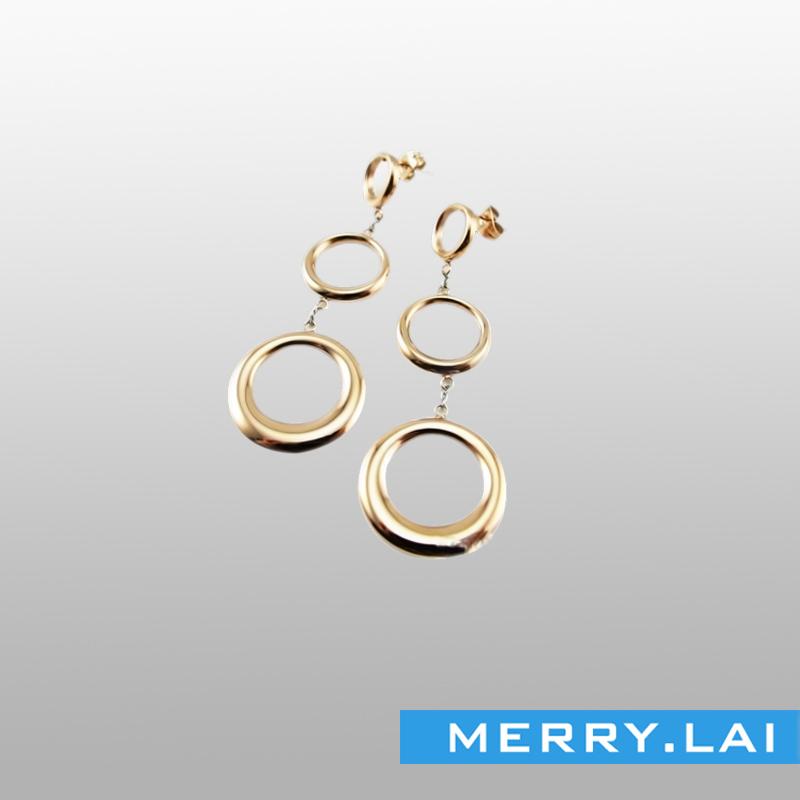 玫瑰金不锈钢耳环,不锈钢耳坠,不锈钢饰品