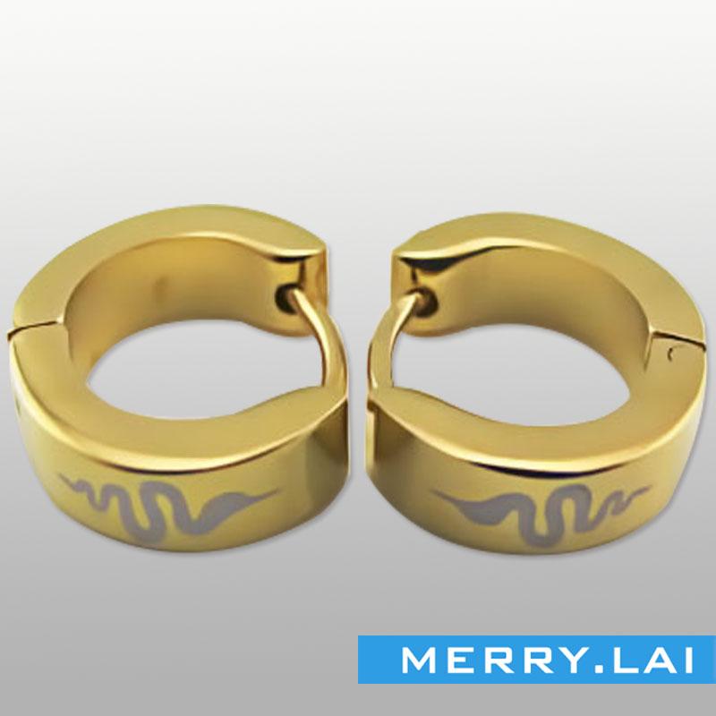 镀金不锈钢耳环,不锈钢饰品订做