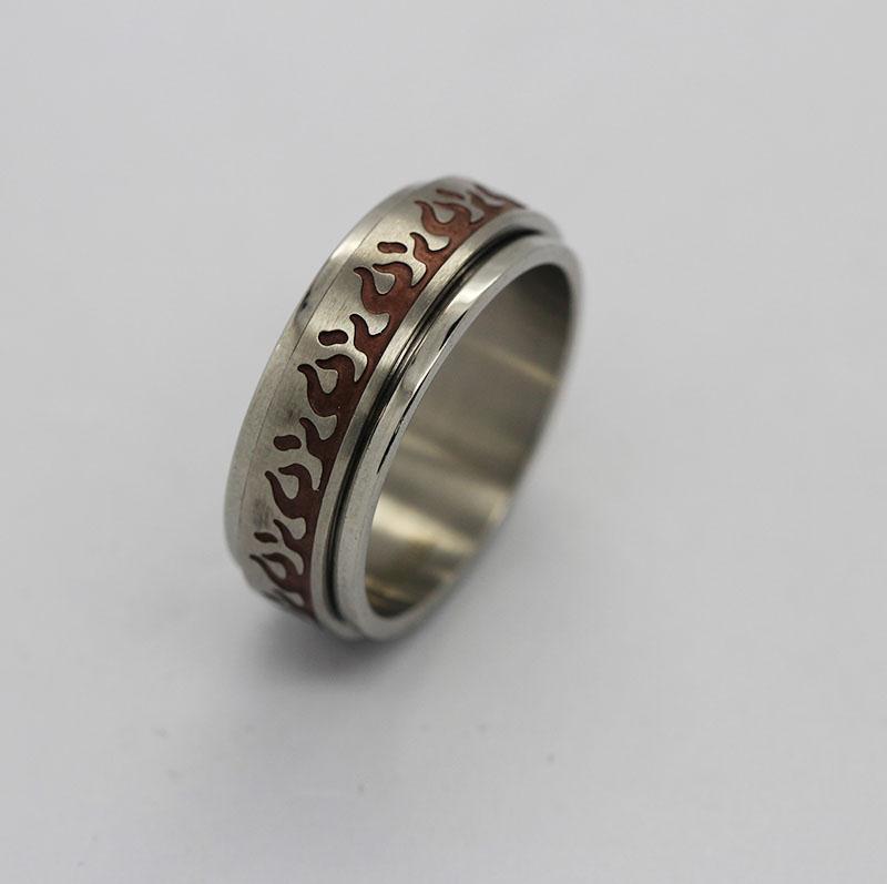 欧美环保男士戒指,滴胶时尚指环,不锈钢戒指订做
