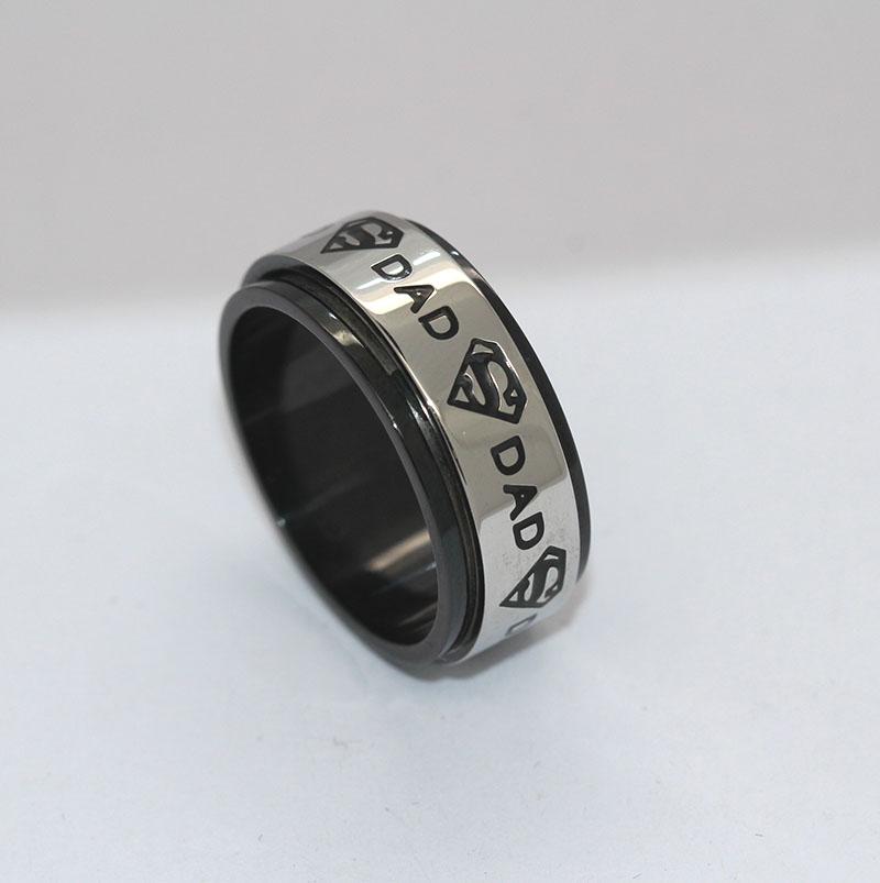 旋转转运戒指,男士戒指,不锈钢戒指厂家
