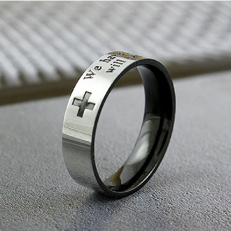十字架戒指,不锈钢戒指,饰品订做厂家