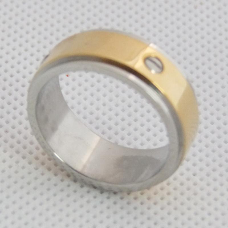 欧美时尚戒指,螺纹双圈指环,不锈钢饰品定制