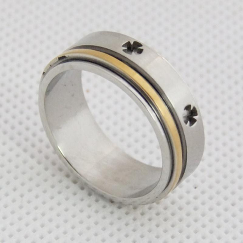 四叶草戒指,不锈钢戒指,欧美简约戒指