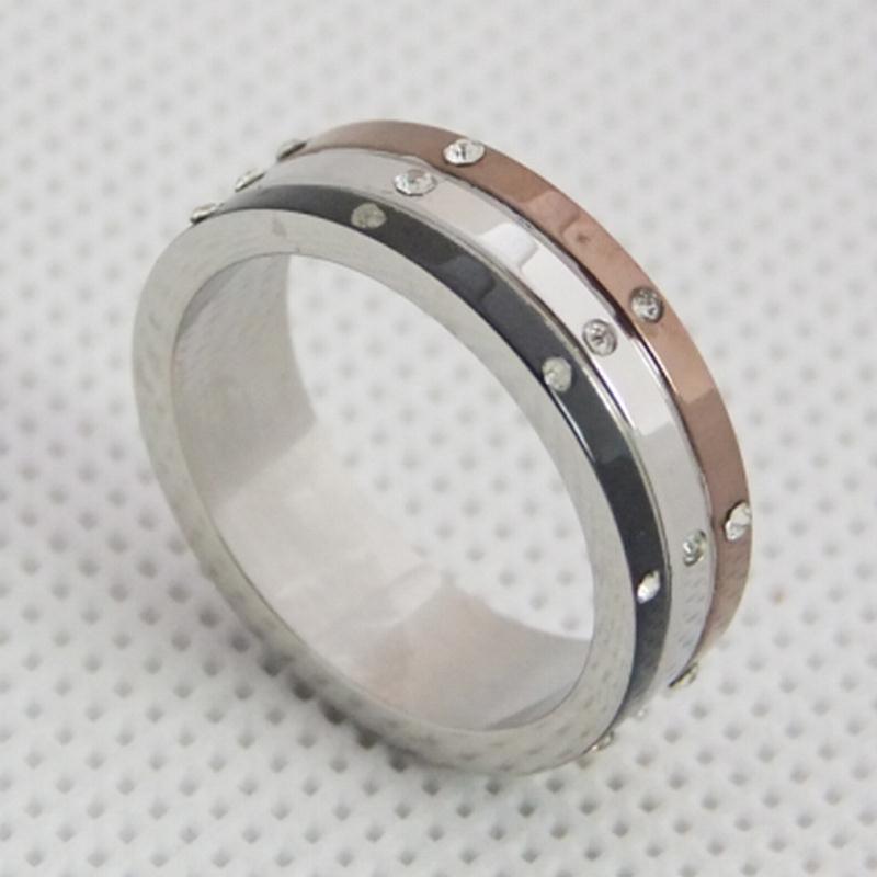 简约时尚戒指,不锈钢戒指定制,长安饰品厂家