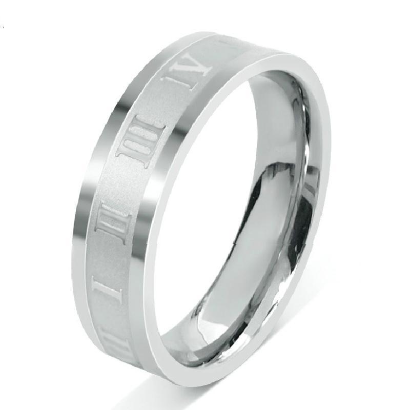 定制韩版时尚戒指 罗马数字指环