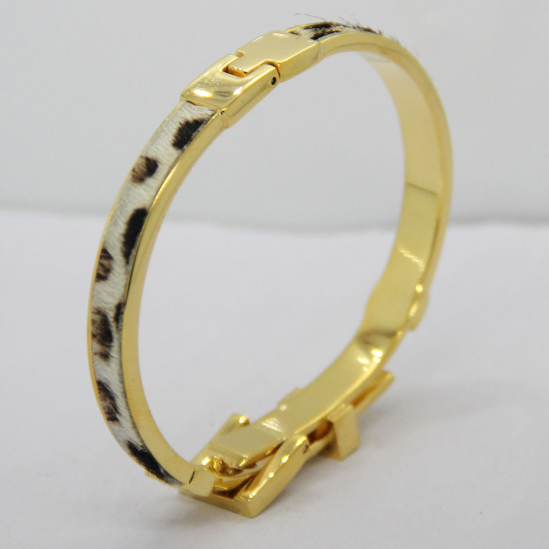 镀金不锈钢手镯 男女表带手环