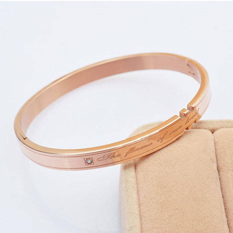 定制玫瑰金钛钢手镯 来魅力饰品订制厂家